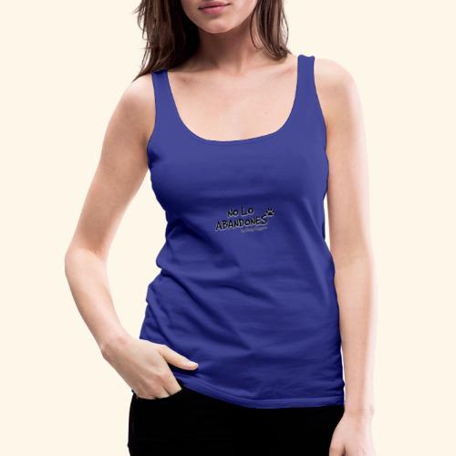 noloabandones negro - Camiseta de tirantes premium mujer