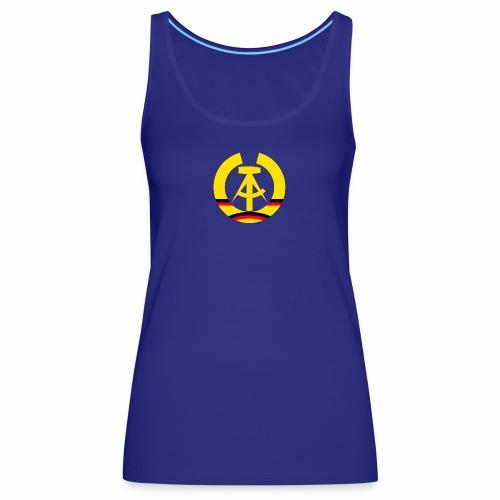 DDR coat of arms stylized (single) - Women's Premium Tank Top