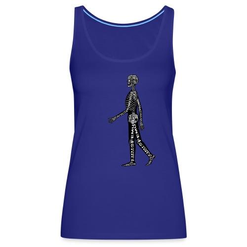 Menschen-Skelett - Naisten premium hihaton toppi
