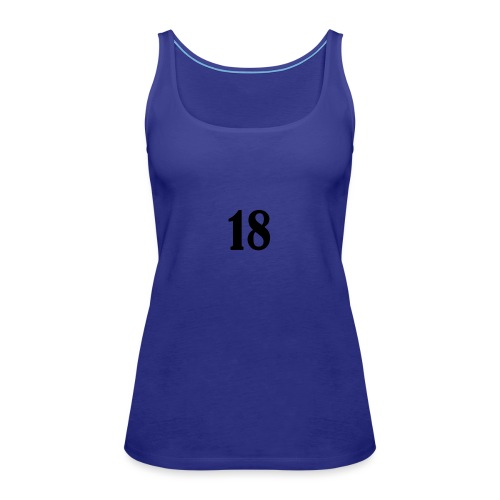 18 logo t shirt - Women's Premium Tank Top
