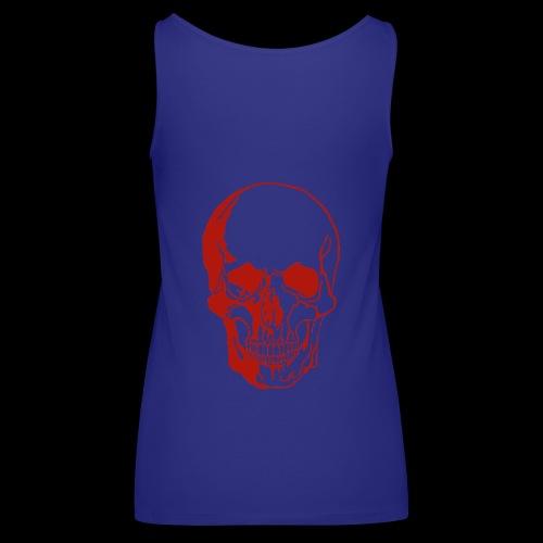 1fd8aa5d7f84f0b9638e591aec507d95 skull sketch sku - Frauen Premium Tank Top