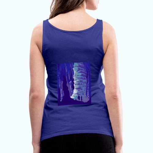 Fancy Grotto Vintage Travel Poster - Women's Premium Tank Top