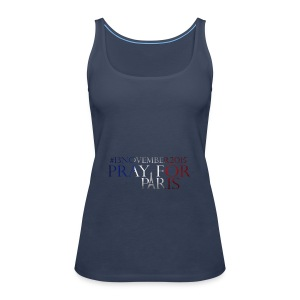 Pray for paris with France flag - Vrouwen Premium tank top