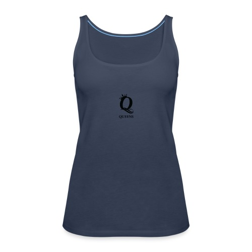 queens logo - Premium singlet for kvinner