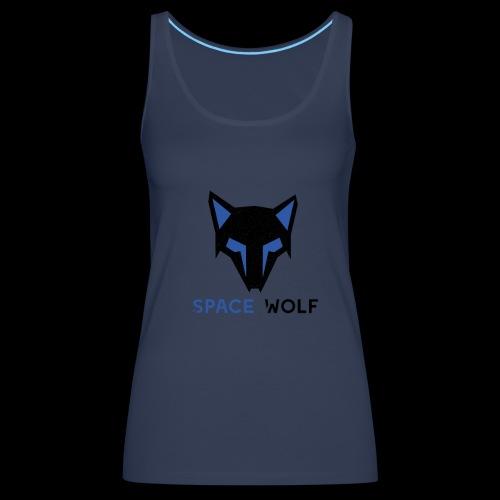 logo lobo space wolf negro azul - Camiseta de tirantes premium mujer