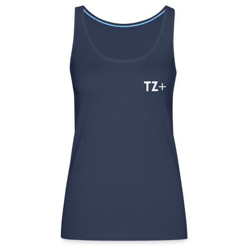 TZ+ white logo - Women's Premium Tank Top
