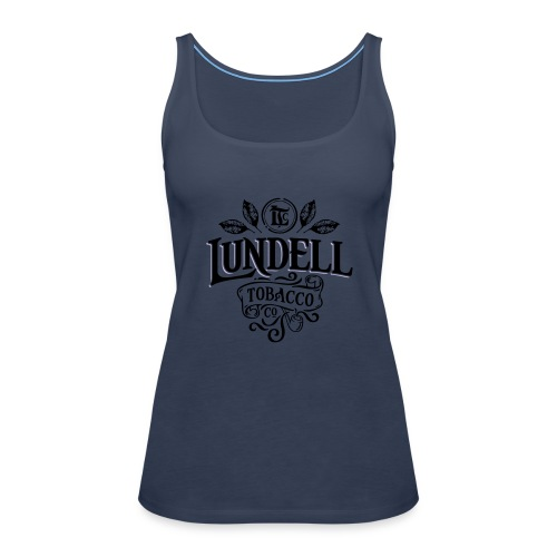 LUNDELL TOBACCO LOGO With Shadow - Premiumtanktopp dam