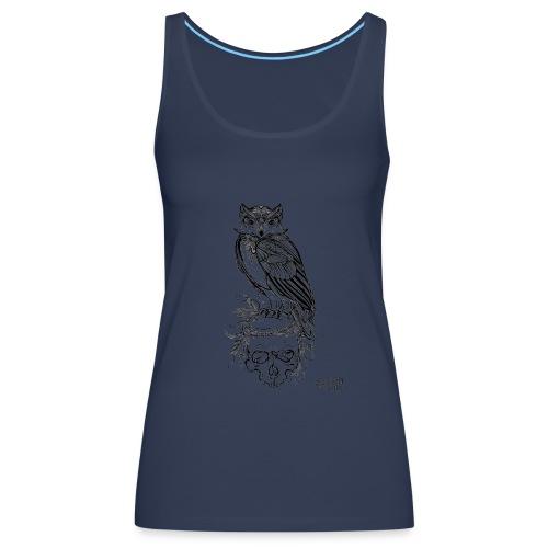 Owl' n Skull - Canotta premium da donna