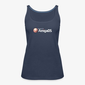 PoweredByAmigaOS white - Women's Premium Tank Top