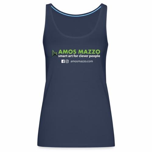 AmosMazzo - smart art for clever people - weiß - Frauen Premium Tank Top