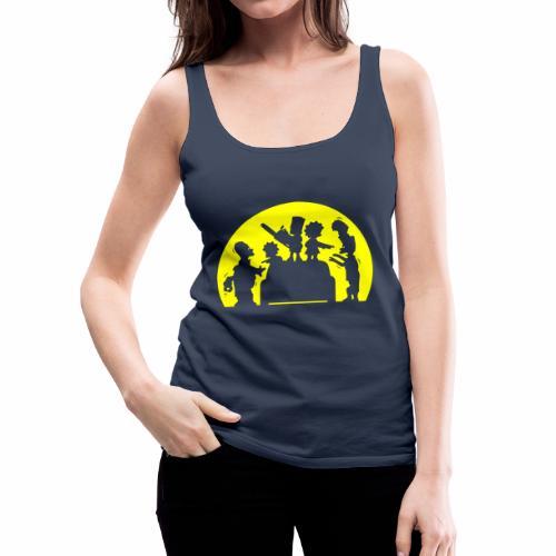 FAMILIA ZOMBIE - Camiseta de tirantes premium mujer
