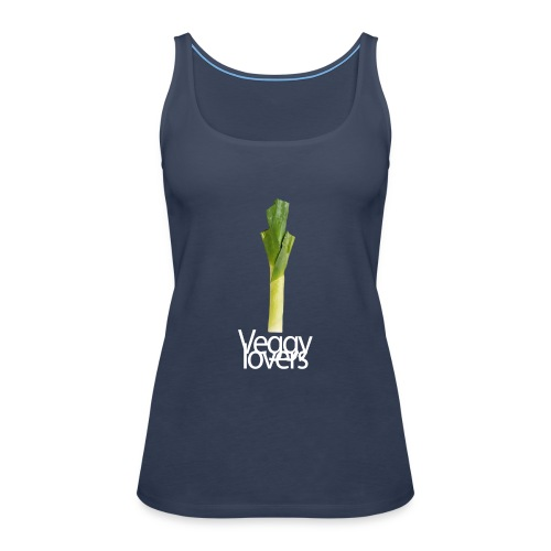 Puerro/ leek. Veggy lovers - Camiseta de tirantes premium mujer