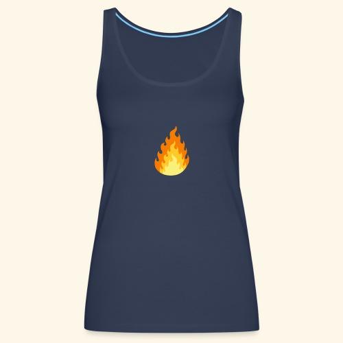 Logotipo Increíble de fuego - Camiseta de tirantes premium mujer