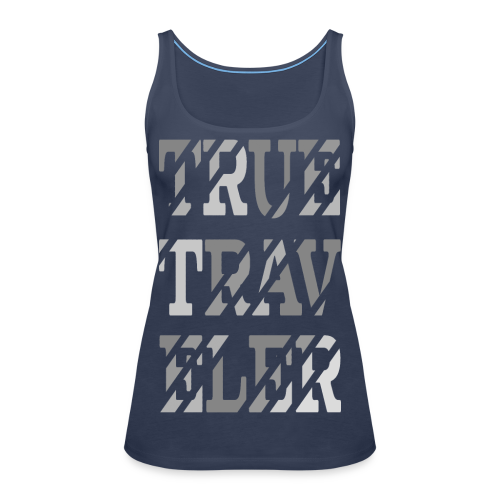 True Traveler Grey design - Naisten premium hihaton toppi