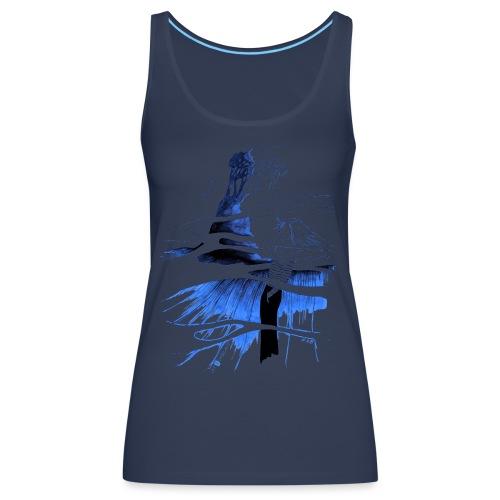 Ein Ort (blau) - Frauen Premium Tank Top