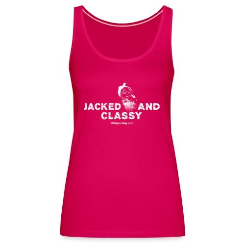 jacked classy taliav20 white 2 - Women's Premium Tank Top