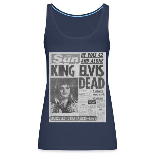 King Elvis Dead FP BW - Women's Premium Tank Top