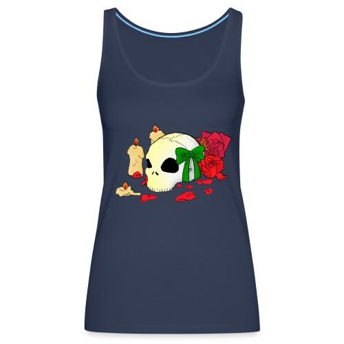 Skull and Roses - Frauen Premium Tank Top