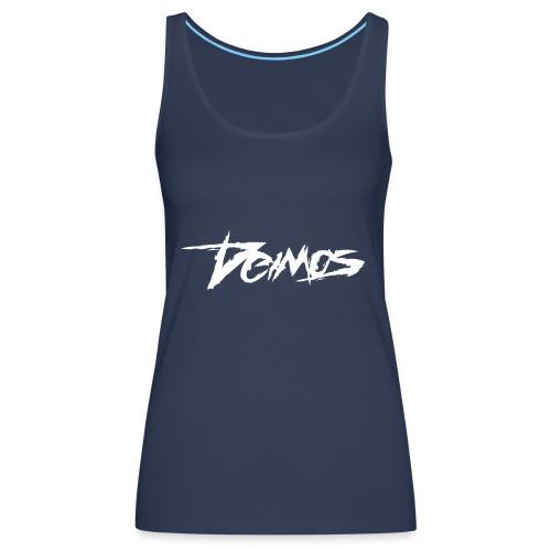 Deimos Logo White - Women's Premium Tank Top