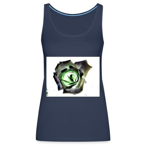 Rose als Negativ - Frauen Premium Tank Top