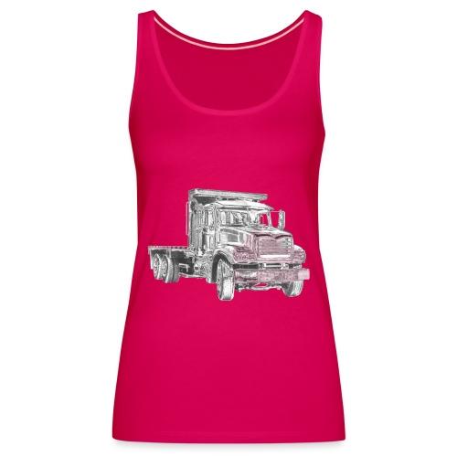 Flatbed Truck 3-axle - Women's Premium Tank Top