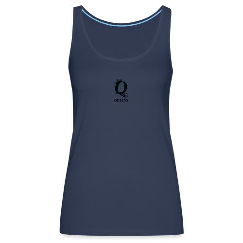 queens logo - Premium singlet for kvinner
