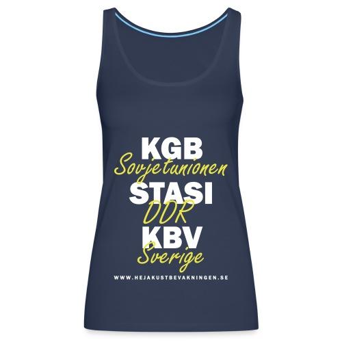 KGB STASI KBV - Premiumtanktopp dam