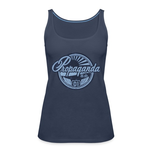 PROPAGANDA 01 BLUE - Women's Premium Tank Top