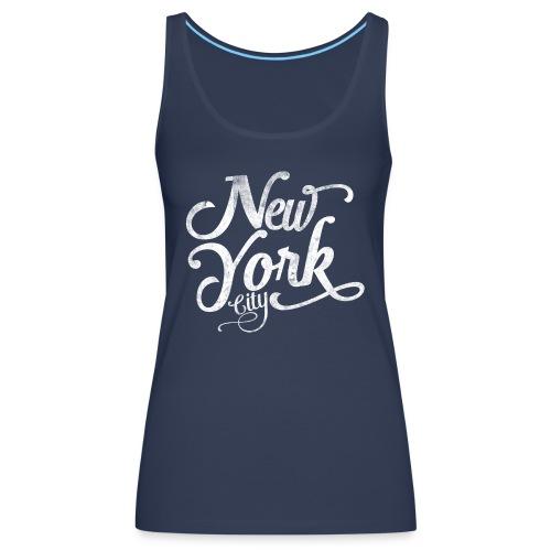 New York City typography - Women's Premium Tank Top