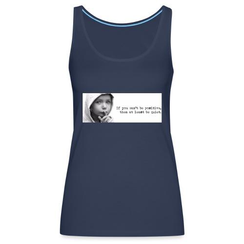 quiet - Vrouwen Premium tank top