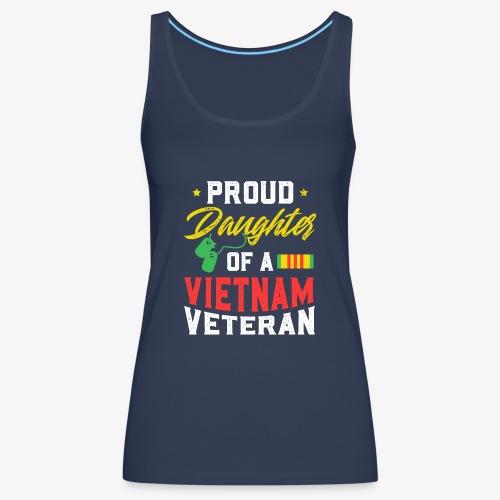 daughter of a vietnam veteran - Frauen Premium Tank Top
