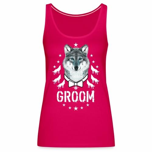 161 Wolf JGA GROOM Wolfpack Sterne - Frauen Premium Tank Top