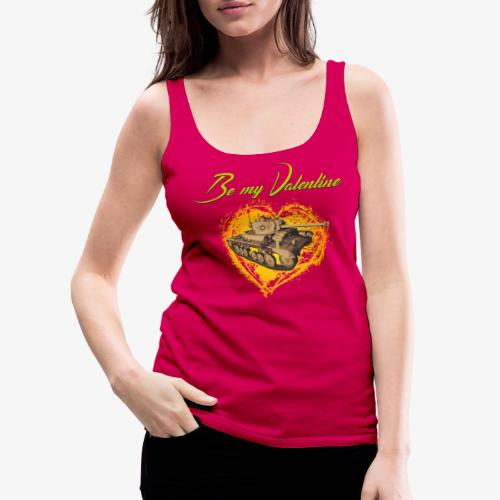 Glowing Valentine Heart - Frauen Premium Tank Top