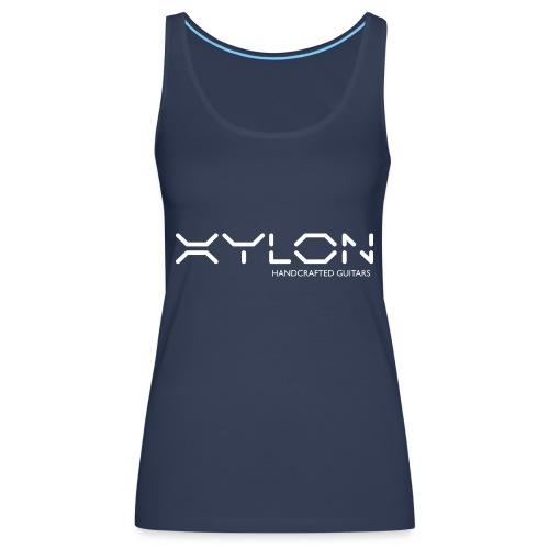 Xylon Handcrafted Guitars (name only logo white) - Women's Premium Tank Top