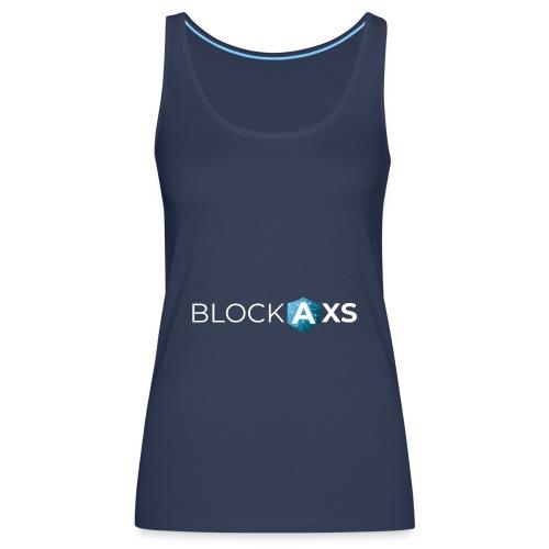 BlockAxs weiß - Frauen Premium Tank Top