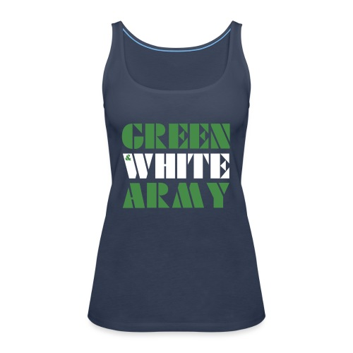 GREEN & WHITE ARMY - Women's Premium Tank Top