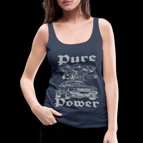 Pure Power V6 Grau - Frauen Premium Tank Top