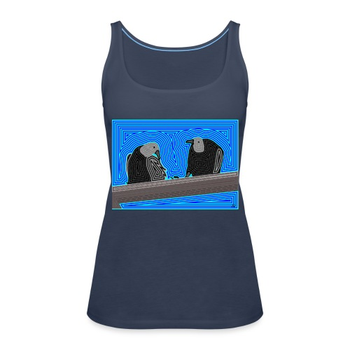 Aves en lineas - Camiseta de tirantes premium mujer
