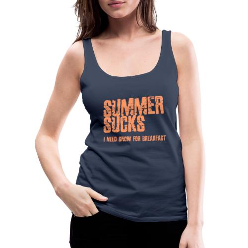 SUMMER SUCKS - Vrouwen Premium tank top