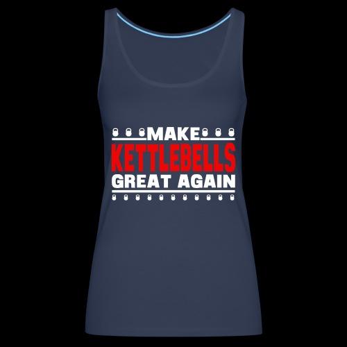 make bells great again WHITE RED - Women's Premium Tank Top