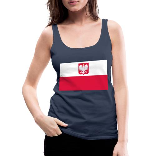 Flag of Poland with coat of arms - Tank top damski Premium