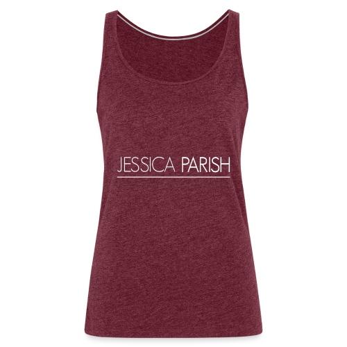 Jessica Parish Schriftzug weiß - Frauen Premium Tank Top