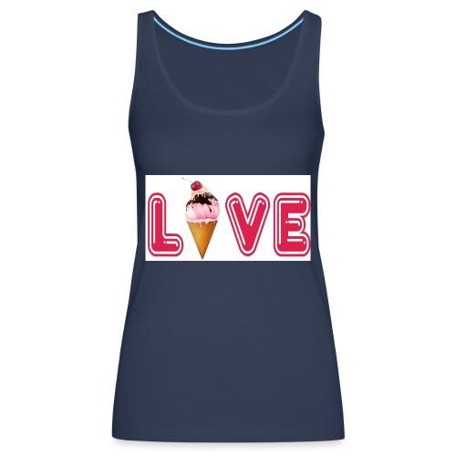 LIVE ROSA - Camiseta de tirantes premium mujer