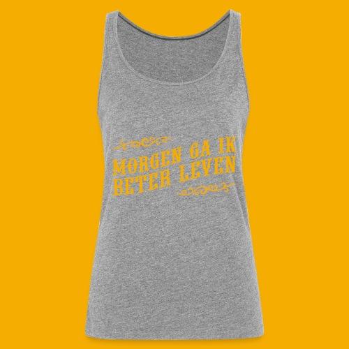 tshirt yllw 01 - Vrouwen Premium tank top
