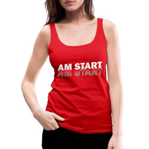 am Start - rot weiß faded - Frauen Premium Tank Top