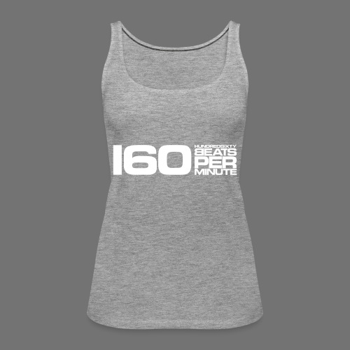 160 BPM (valkoinen pitkä) - Naisten premium hihaton toppi