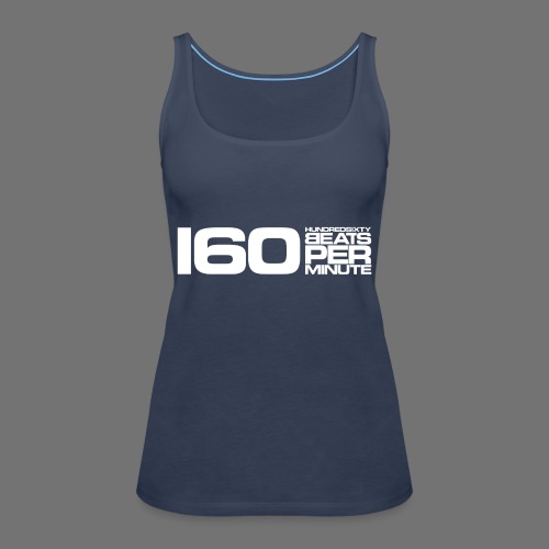 160 BPM (white long) - Women's Premium Tank Top