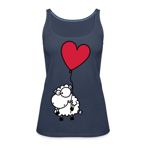 Liebes Schaf - mit Herz Ballon - Frauen Premium Tank Top