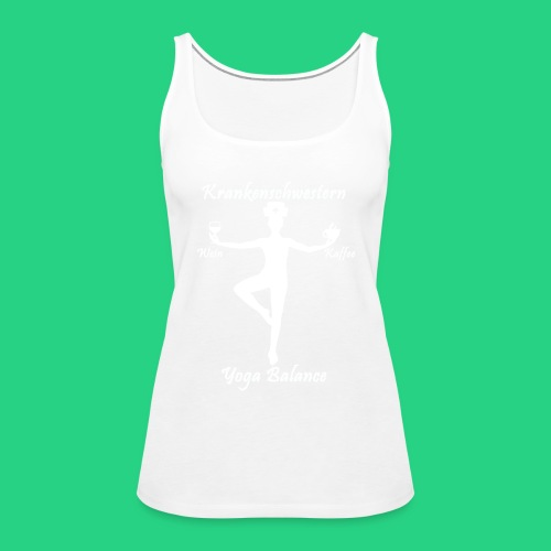 Krankenschwestern Yoga - Frauen Premium Tank Top