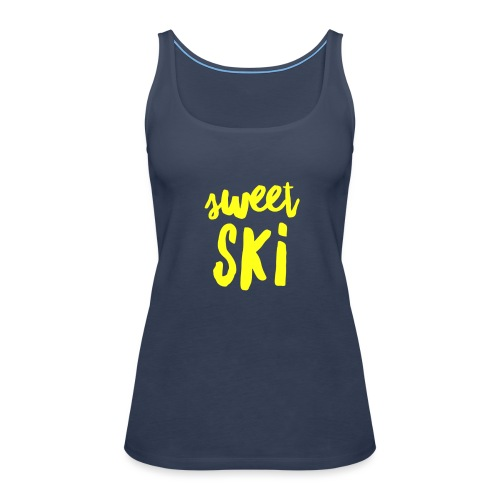 Sweet Ski Yellow - Frauen Premium Tank Top